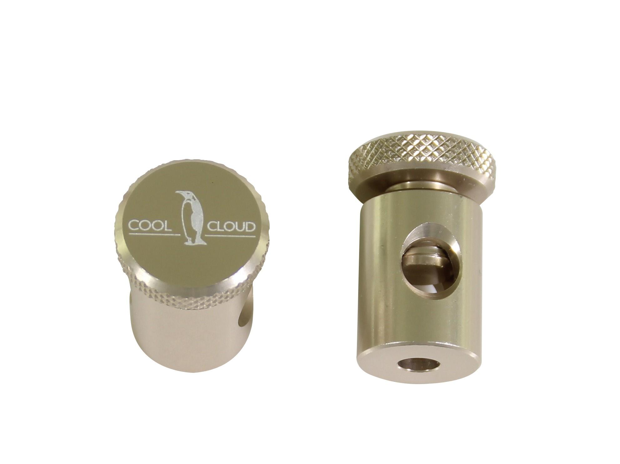 Zylinder Befestigungsschelle Mit Rändelschrauben, Titanium